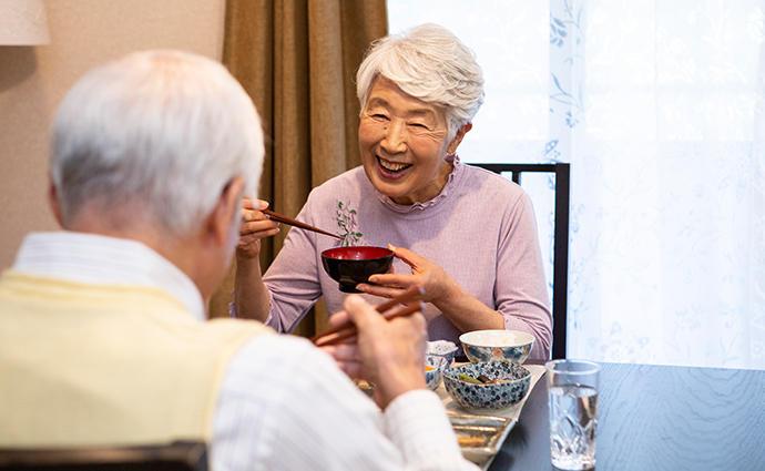 表情が明るく、発語がしっかり。高齢者の栄養改善を支える〝うま味〟